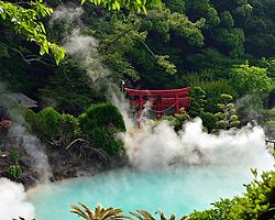 Hot springs in Beppu, Japan