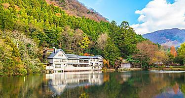 Autumn at Lake Kinriko in Yufuin Town Oita, Japan