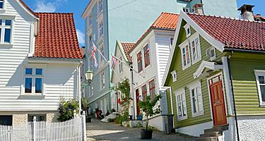 Traditional homes in Bergen, Norway
