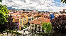 A view of the Bilbao, Spain cityscape