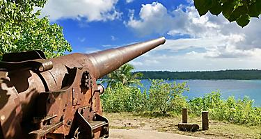 A World War 2 cannon in Bora Bora, French Polynesia