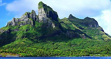 View of Mount Otemanu in Bora Bora, French Polynesia