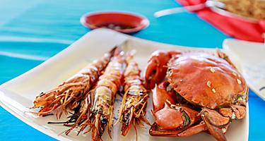 Local seafood cuisine in Boracay