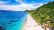 Aerial view of Boracay Island, Western Visayas, Philippines