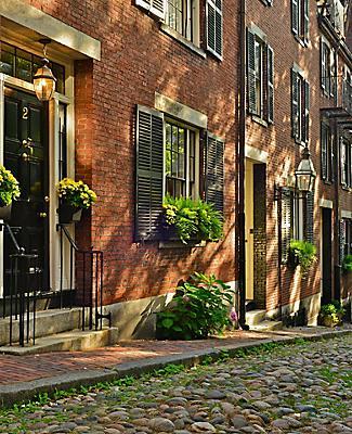 boston massachusetts historic acorn street beacon hill
