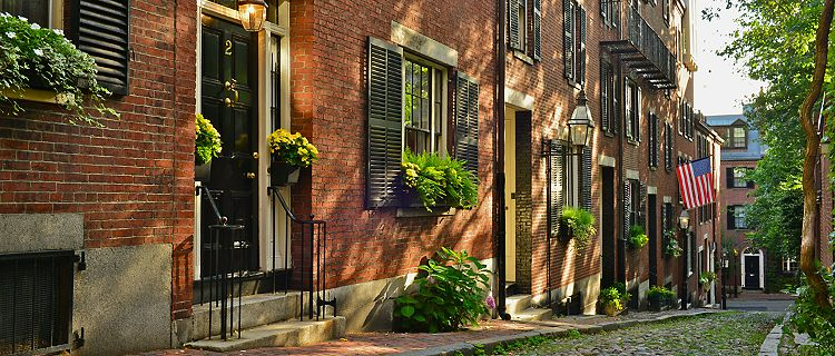 boston massachusetts historic acorn street beacon hill