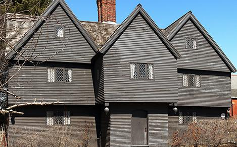 New England Boston Salem Witch House