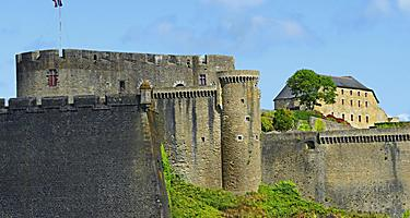 View of the Chateau de Brest old castle in Brest, France