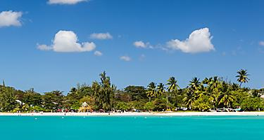 Clear sunny beach on Carlisle Bay, Bridgetown, Barbados