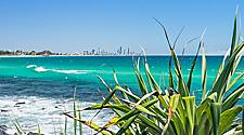 Coastal view of Burleigh Heads
