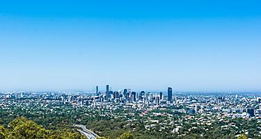 A panoramic view from Mount Coot-Tha lookout in Australia