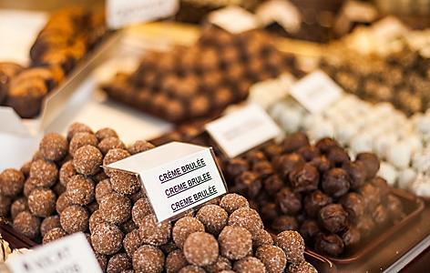 An assortment of Belgium chocolates