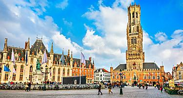 The market square in Bruges, Belgium