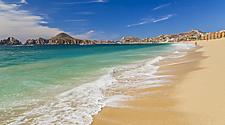 A sandy beach in Cabo San Lucas, Mexico