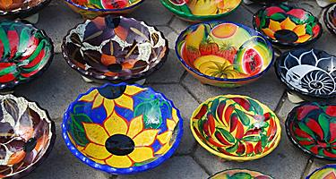 Various decorative Mexican bowls for sale