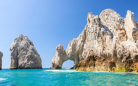 The fanous arch in Cabo San Lucas, Mexico
