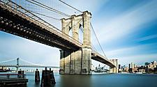 Ground angle of Brooklyn Bridge