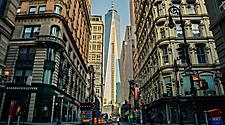 View of One World Trade Center from streets