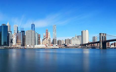 New York City Skyline, Cape Liberty, New Jersey