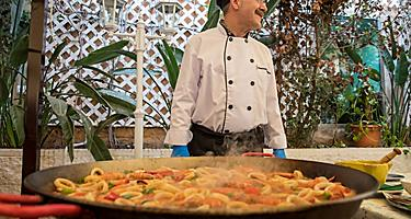 Chef Making Traditional Spanish Paella