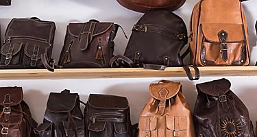 Assorted leather bags for sale in Spain