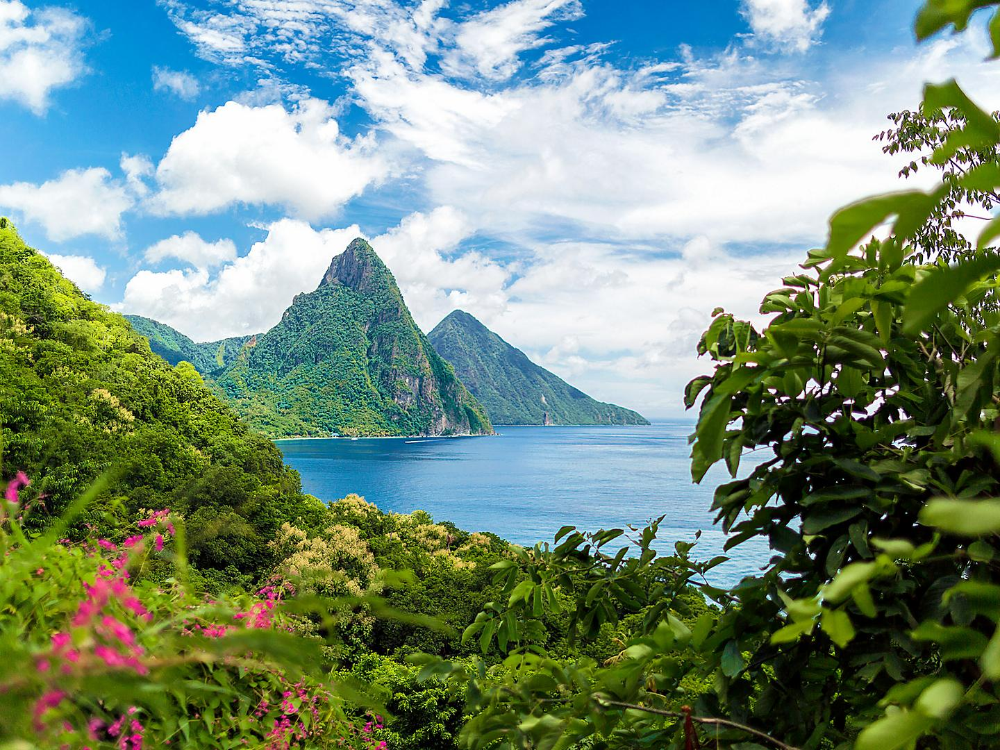 Castries, St. Lucia Forest Piton Peaks