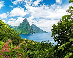 Castries St. Lucia Forest Piton Peaks