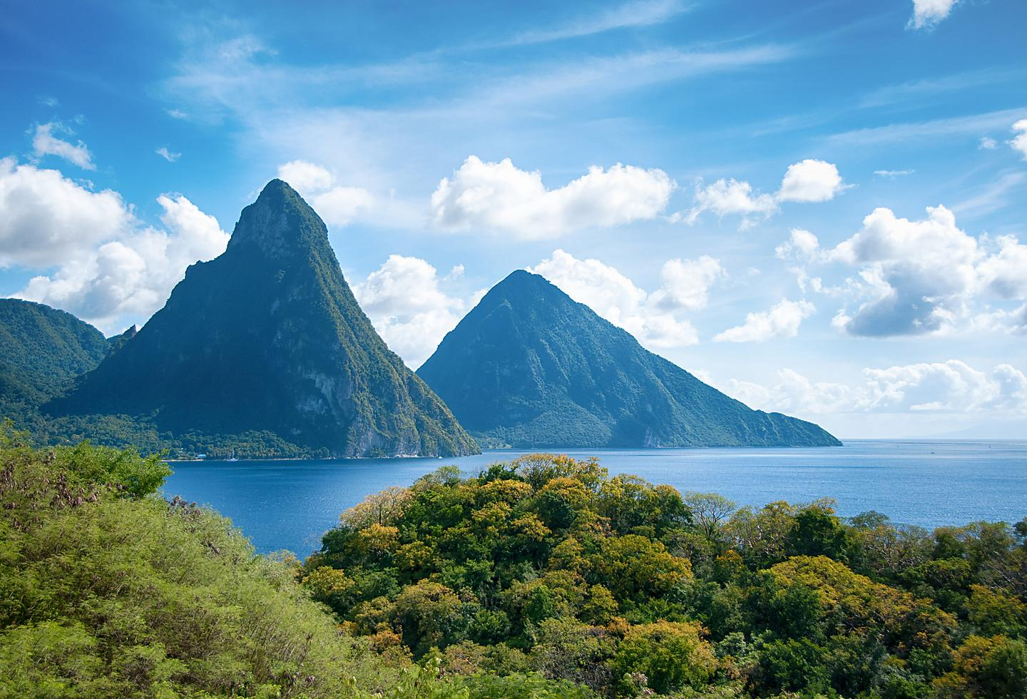 Saint Lucia Lush Mountain Coast