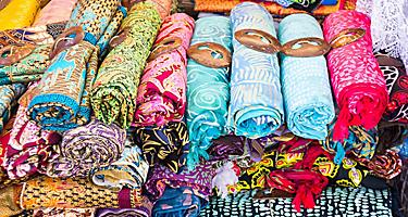 Traditional sarongs sold in Champagne Bay, Vanuatu