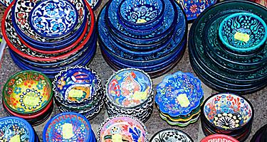 Traditional ceramic dishes in Crete
