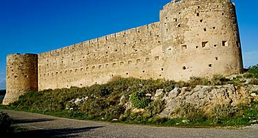 The exterior walls of the ottoman fortress in Crete