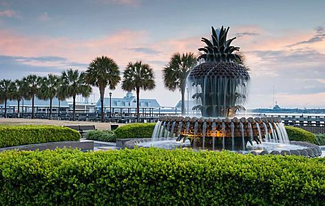 charleston south carolina fountain pineapple