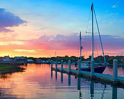 charleston south carolina sunset sailboat dock