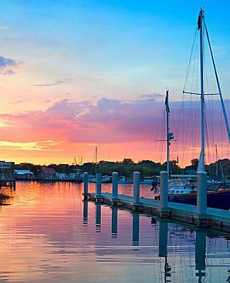 charleston south carolina sunset sailboat dock