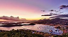 Harbor Sunset from mountain, Charlotte Amalie St. Thomas