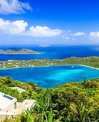 View of Magens Bay from a cliff in Charlotte Amalie St. Thomas