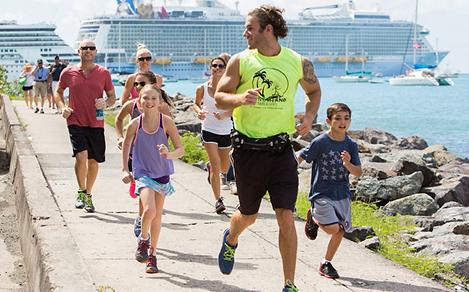 Family Running Doing a Royal Tour Challenge