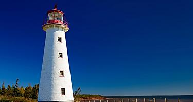 A lighthouse at Charlottetown, Prince Edward Island
