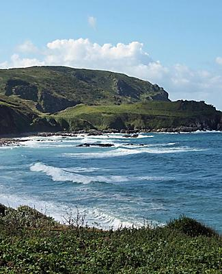View of the coast at the tip of the Contentin Peninsula