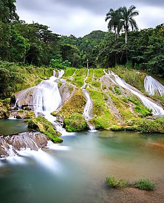 View of El Nicho waterfall in Cienfuegos, Cuba