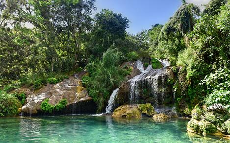 cienfuegos cuba el nicho waterfalls gran parque natural topes de collantes clear water