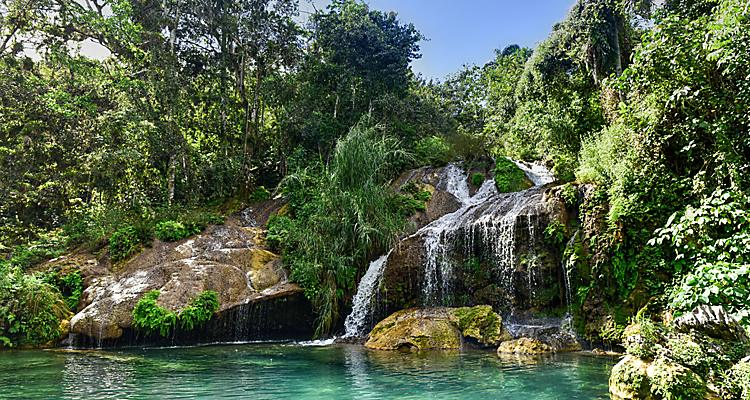 cienfuegos cuba el nicho waterfalls gran parque natural topes de collantes clear water