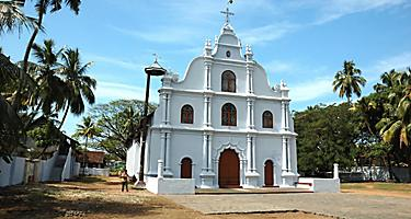 Old white Church in Cochin, India