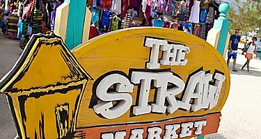The Straw Market in Coco Cay for shopping for beachwear and more right on the beach