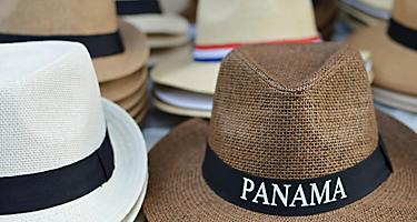 Panama Hats sold in Colon, Panama
