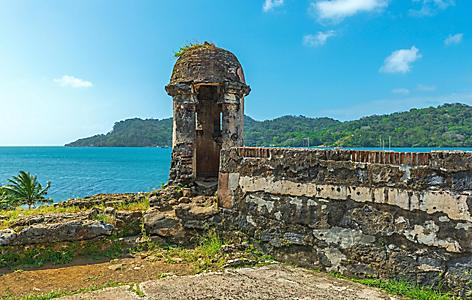 The San Lorenzo fortifications in Portobelo National Park in Colon, Panama