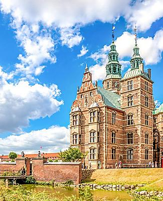 View of the Rosenborg in Copenhagen, Denmark