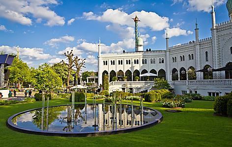 A Moorish Palace in Tivoli Gardens in Copenhagen, Denmark