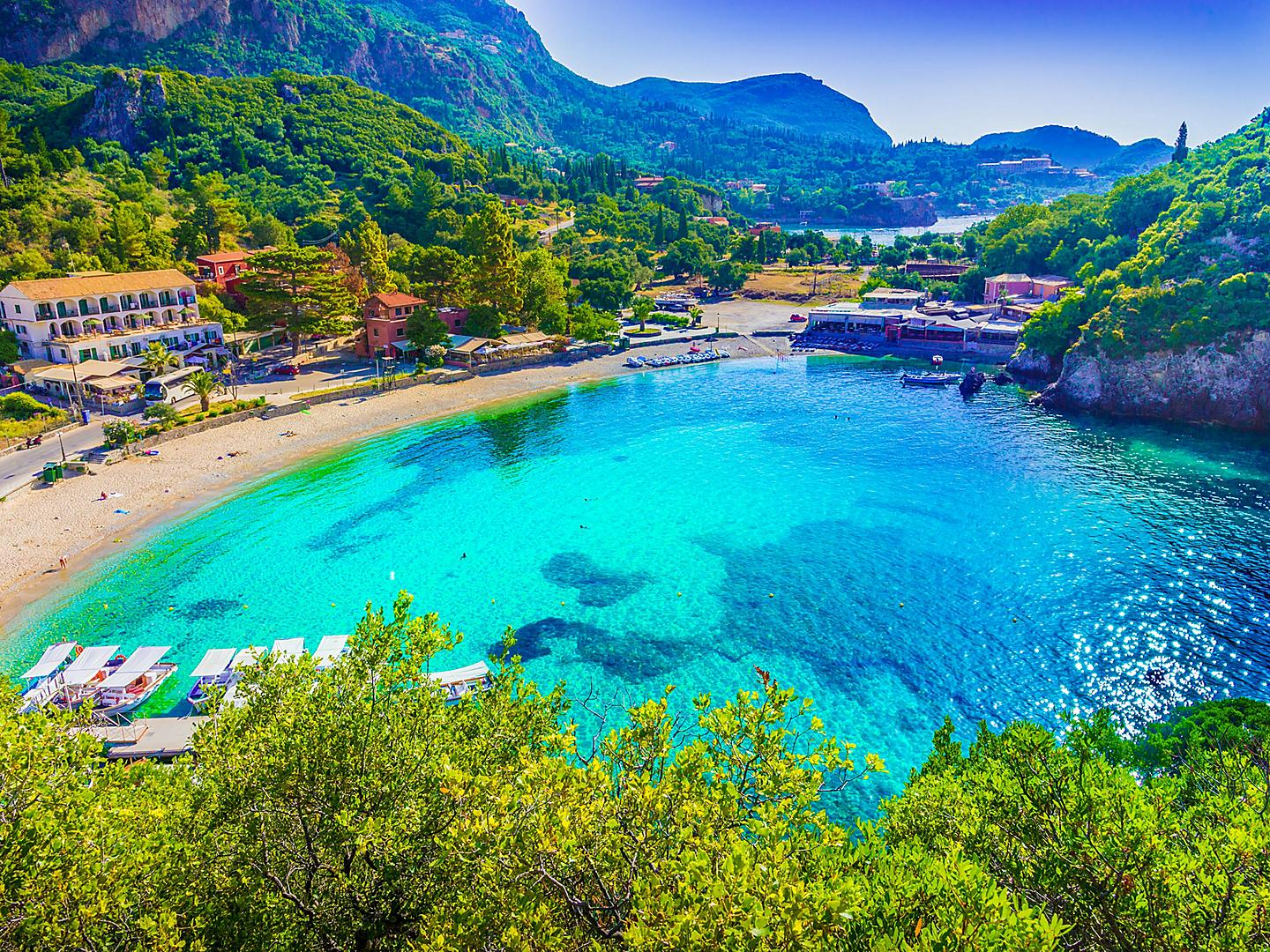 Corfu, Greece, Paleokastritsa Beach
