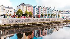 Colorful waterfront buildings in Cork, Ireland